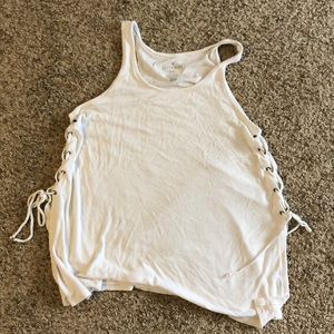 AE soft & sexy rib tank, laces up the side